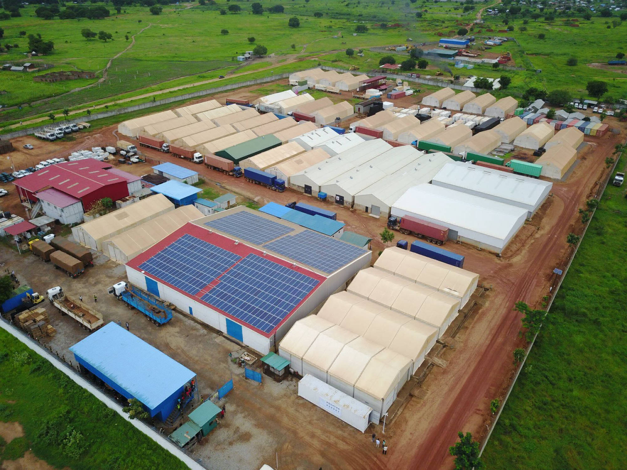 160 kW + 160 kWh off-grid plant at a logistics base | South Sudan