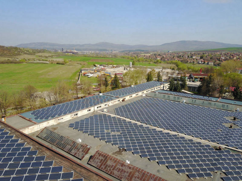 0.6 MW grid-tied | 14 days, Feromagnit, factory, Bulgaria