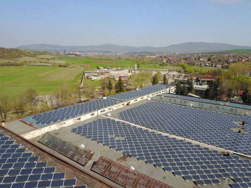 600 kW grid-tied plant on factory roof | Bulgaria