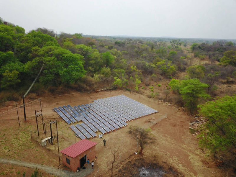 60 kW solar-diesel hybrid | 1 day, Venice Mines, residential, Zimbabwe