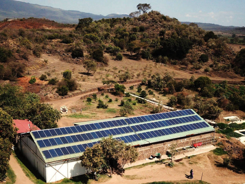 75 kW grid-tied | 4 days, Groove Flowers, flower farm, Kenya
