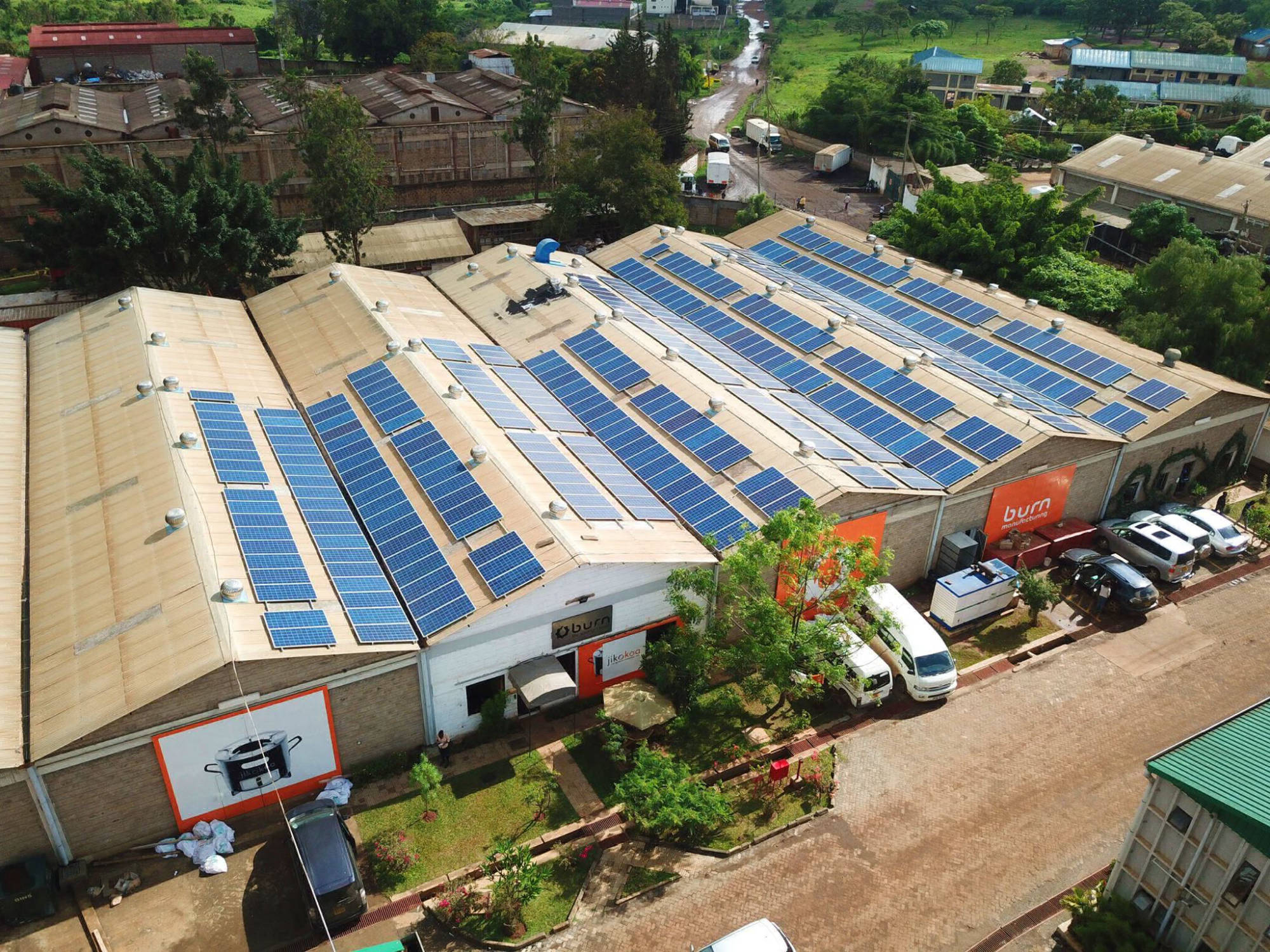 120 kW captive grid-tied plant at a factory | Kenya