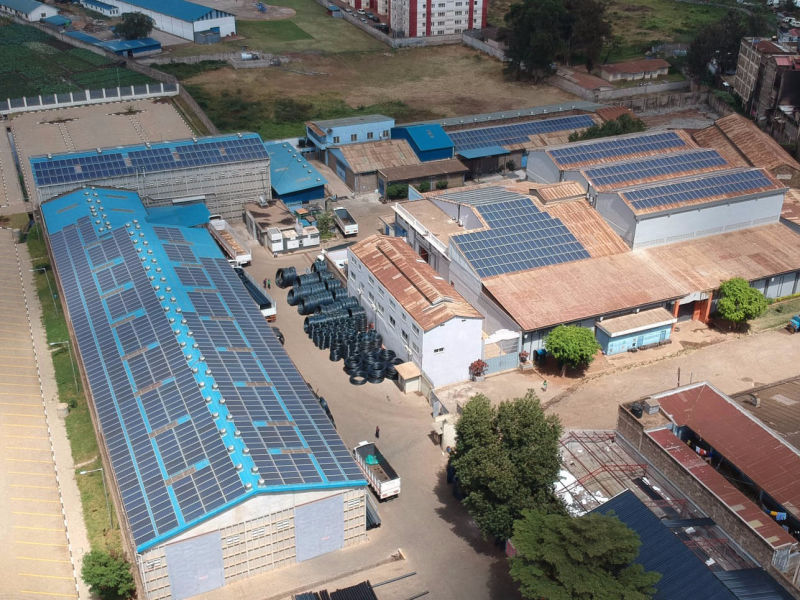 0.5 MW grid-tied | 8 days, Danco Plastics, factory, Kenya