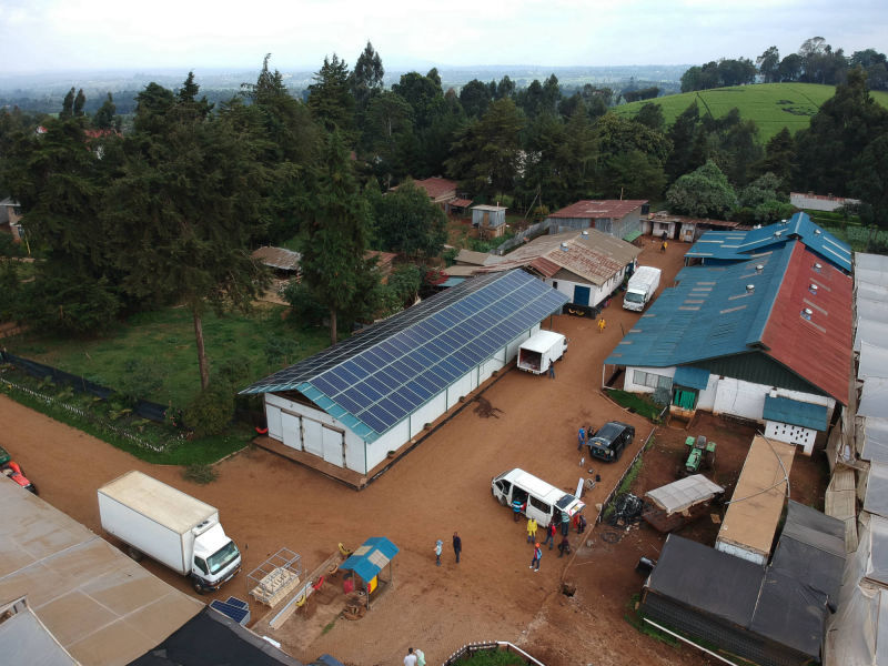 60 kW grid-tied | 1 day, Utee, flower farm, Kenya