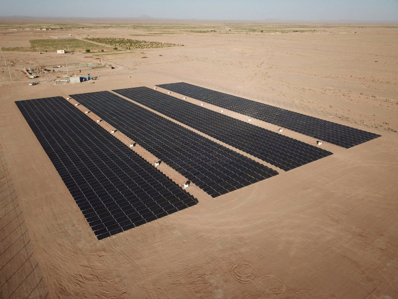 1 MW grid-tied | 5 days, SATBA, grid-supply, Iran